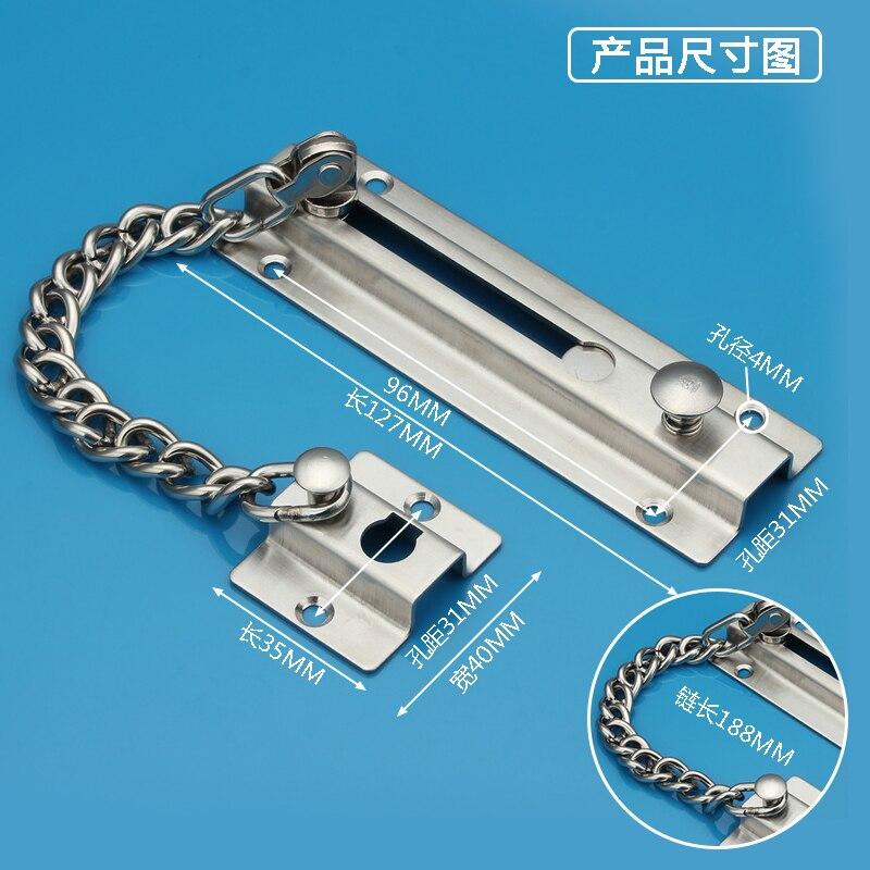 Door latch anti theft door buckle chain security chain stainless steel anti theft door lock - How to open chain lock ...
