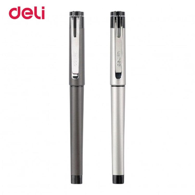 Deli 1pcs Stationery Office Supplies Gel Pens Scrub Feel 0.5mm Mental Gel Pens Refill Gel Pens School For Writing Gift Box 50DS1