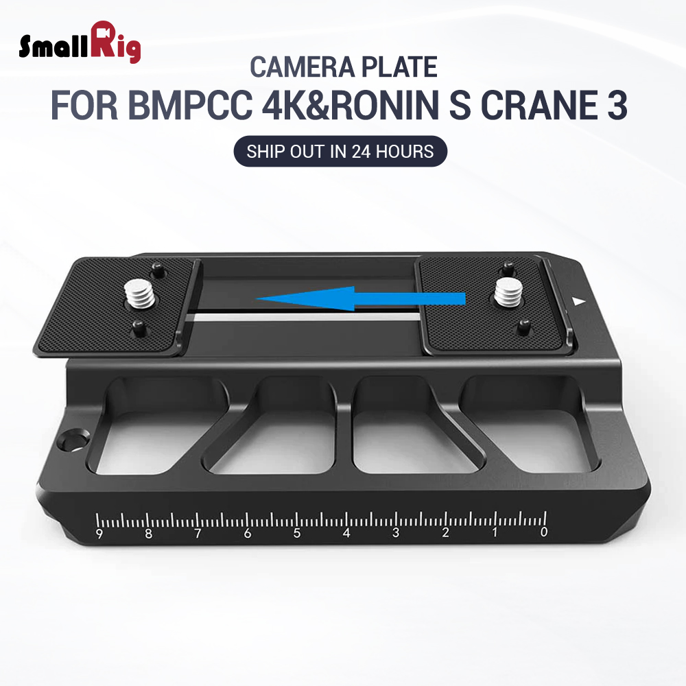SmallRig Offset Plate for BMPCC 4K and for Ronin S for Crane 3 DSLR Camera Plate