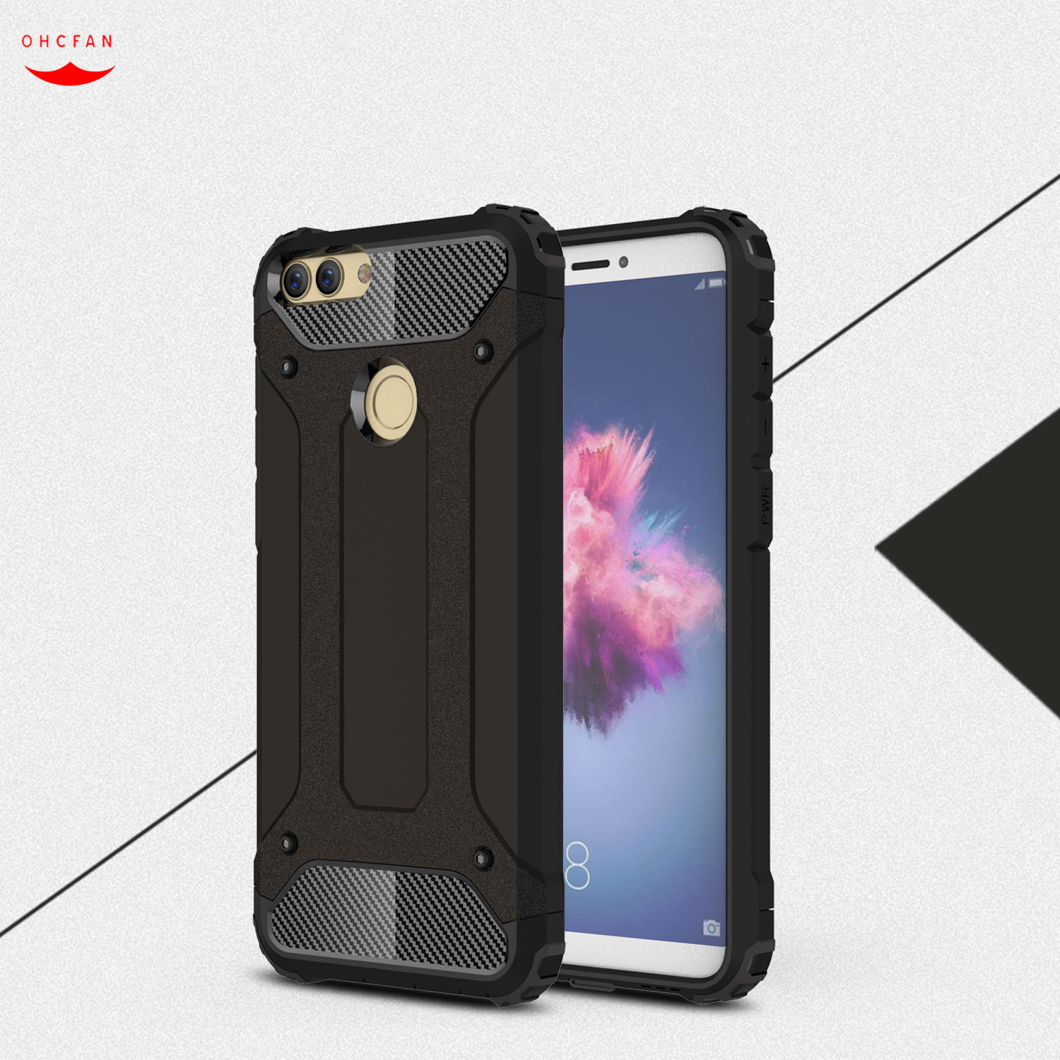 Luxury Hard Protect full Cover Case for Huawei P Smart Hard Dirt Resistant Back Armor Cover
