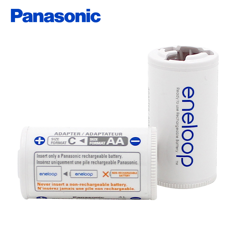 Panasonic Eneloop Battery Converter Tube Adapter AA Batteries Change To Size C BQ BS2E 2BC In Rechargeable From Consumer Electronics On