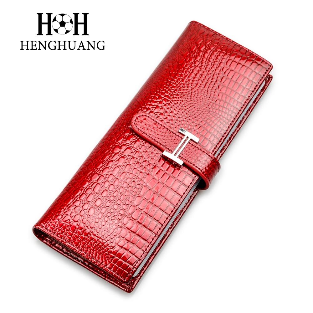 HH असली लेदर कार्ड धारकों महिलाओं के मैन कार्ड धारक व्यवसाय लक्जरी मगरमच्छ नाम आईडी कार्ड केस क्लच कार्ड बैग