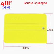 10 шт./Высокое качество QILI QG-09 обертывания и знак виниловые упаковочные инструменты с 9,8*7 см PP Пластиковый квадратный скребок