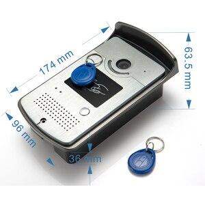Image 4 - New 7 inch Video Doorbell Monitor Intercom With RFID Key Outdoor Camera Door Phone Intercom System Remote control Door Lock