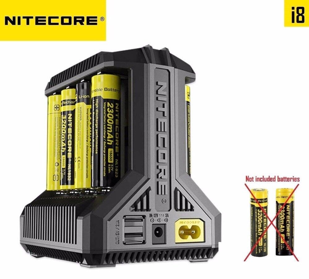 Nitecore i8 Intelligent <font><b>Charger</b></font> 8 Slots Total 4A Output <font><b>Smart</b></font> <font><b>Charger</b></font> for IMR18650 16340 10440 <font><b>AA</b></font> AAA 14500 26650 and USB Device