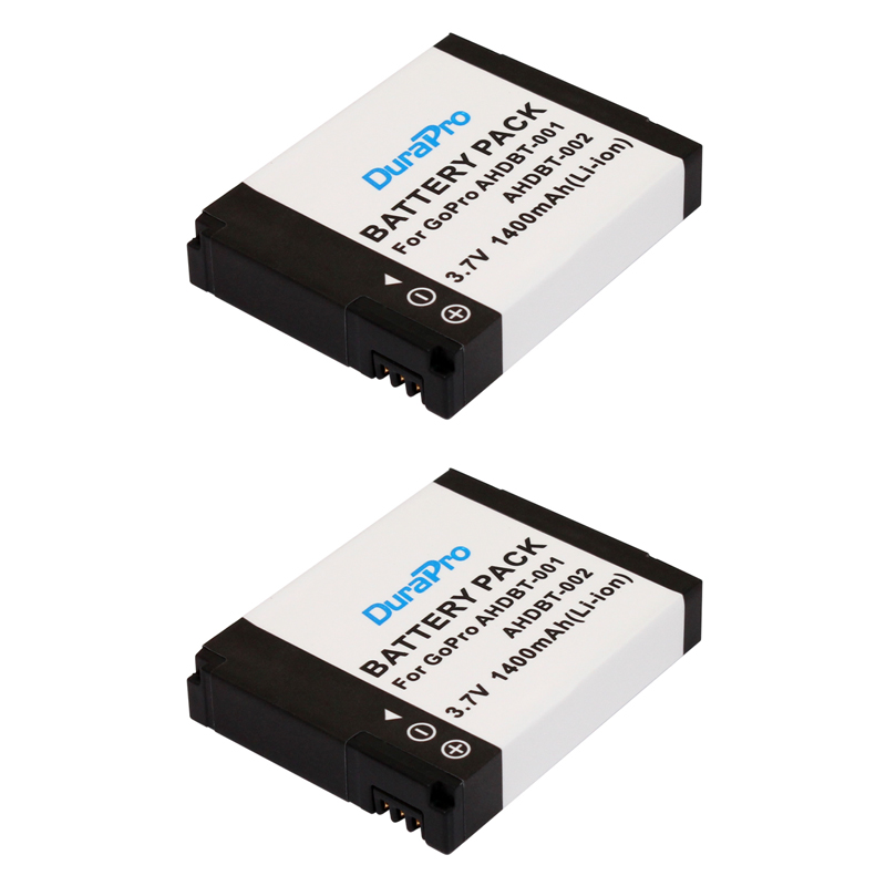 2pc 1400mAH AHDBT-001 AHDBT-002 AHDBT 001 002 Li-ion Battery for GoPro HD Hero 1 2 Hero1 Hero2 Motorsports Surf Outdoor 960