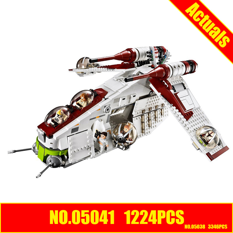 LEPIN 05041 Star Wars Republic Gunship similar with 75021 buliding kit