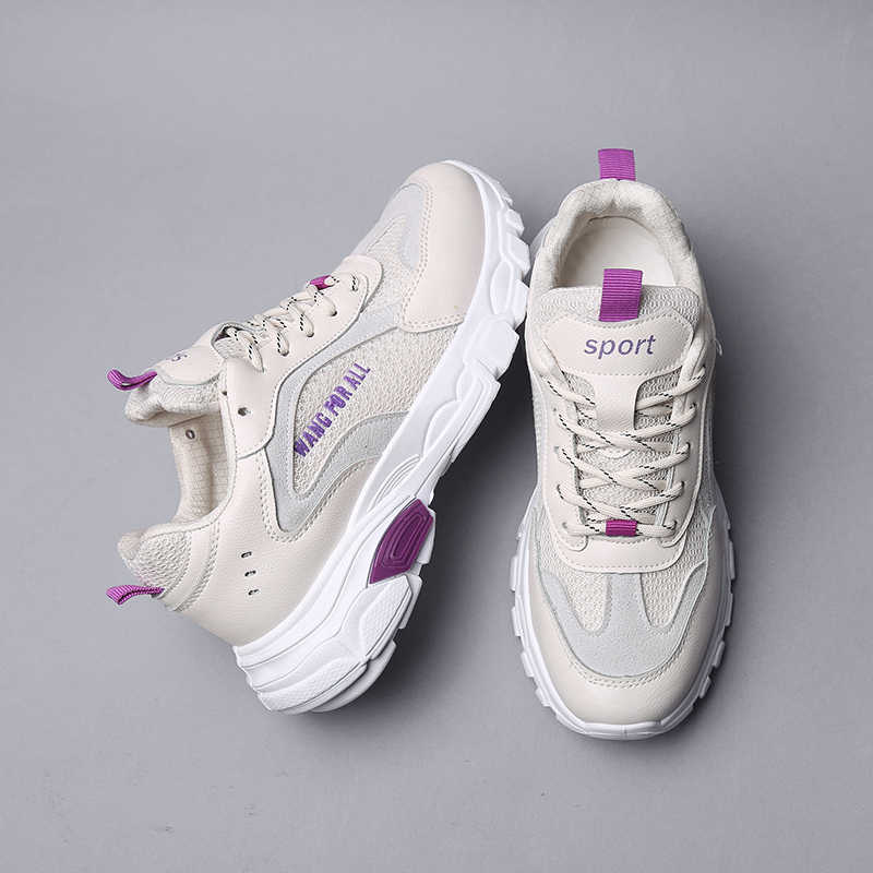 aa63fb0e1a7 Women Sneakers 2019 Fashion Casual Shoes Woman Comfortable Breathable Mesh  Female Platform Sneakers Beige White Chaussure