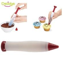 Delidge 1PC deser dekorator Pen ciasto lukier narzędzia do dekorowania ciast czekoladowych ciastko do wypieku biszkopta rysunek Dropshipping