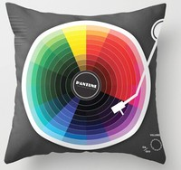 Fashion Throw Pillowcase Pantune The Color Of Sound Gramophone Record Luxury Square Zippered Pillow Sham Beauty