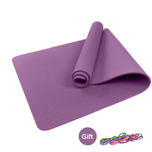6mm Thick TPE Yoga Mat Yoga Bag Soft Yoga Pads Sport Training Exercise Non-slip Gym Mat 183 X 61X0.6cm For Fitness Body Building