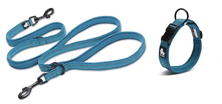 Truelove 7 In 1 Multi-Function Adjustable Dog Lead Hand Free Pet Training Leash Reflective Multi-Purpose Dog Leash Walk 2 Dogs (3)