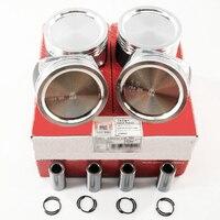 NEW 4Pcs 76.5mm Piston 036 107 065 DH & Piston Ring 03C 198 151 Pin 19mm Kit Fit For VW Jetta 11 16 1.6L EA111