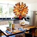 Nordic Loft Style Wood Art Droplight Modern LED Pendant Light Fixtures For Living Dining Room Bar Hanging Lamp Indoor Lighting
