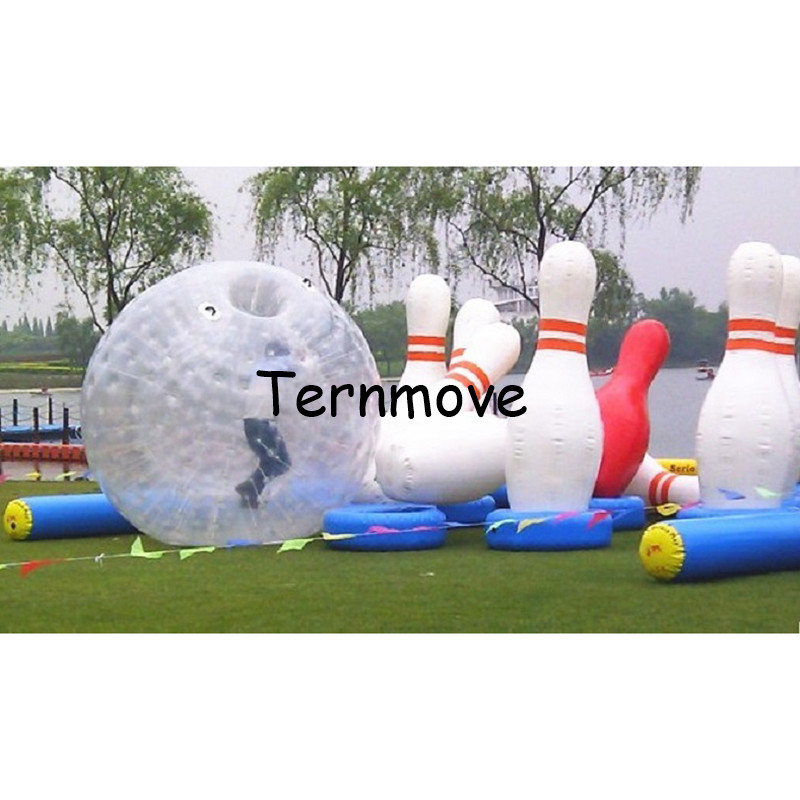 2m/6.8feet Inflatable Human Blowing Ball, Giant Inflatable Bowling Ball Game,Human Zorb Bowling Game with factory price