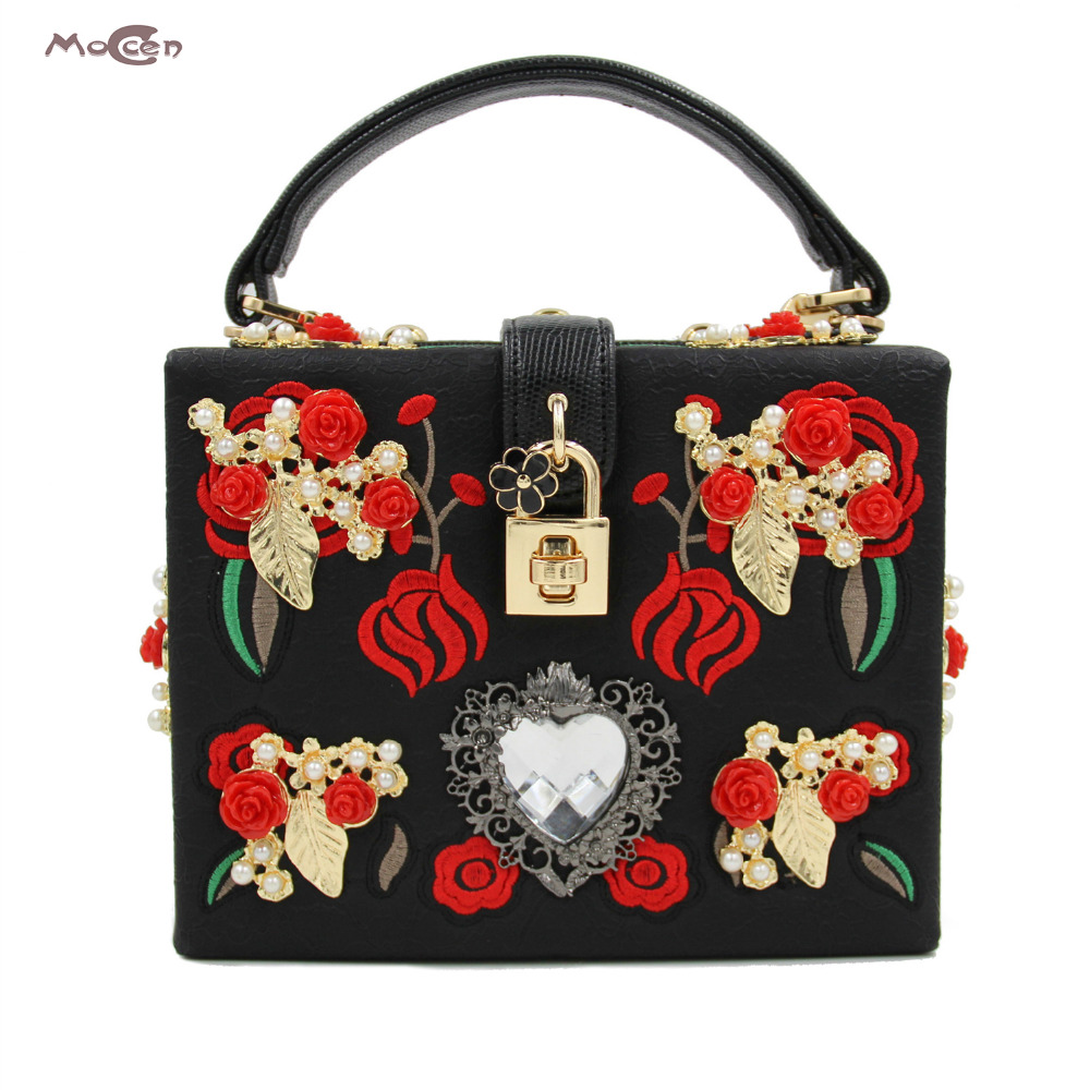 Moccen Evening Box Bags Fashion Ladies Clutch Bag Designer Women Handbags High Quality Day Clutches Lock Box Handbags fashion box evening bag oil painting flower black lock clutch bag strap mini tote bag ladies purse trunk white women handbags