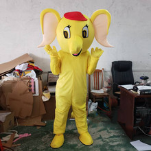 New Elephant Mascot Costume  Professional Quality for Adult Halloween Purim Party Fancy Dress Advertising Cartoon Suit