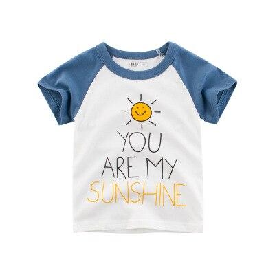 Loozykit/Летняя детская футболка для мальчиков футболки с короткими рукавами и принтом короны для маленьких девочек хлопковая детская футболка футболки с круглым вырезом, одежда для мальчиков - Цвет: Style 11