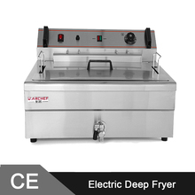 20L Large Capacity Commercial Electric Deep Fat Fryer Machine with CE Approval