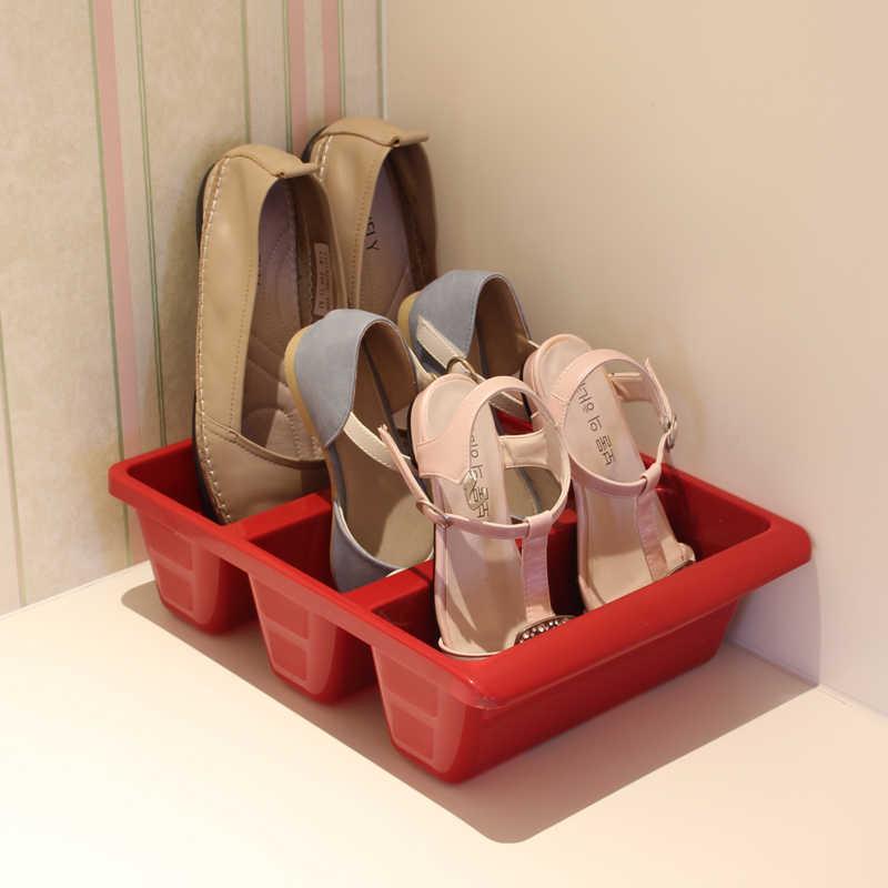 Vertical de sapatos caixa de sapato sapato cabide cabide de sapato rack de armazenamento 3 fps