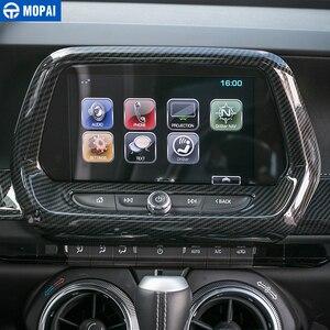 Image 2 - MOPAI, Автомобильный интерьер, навигационный экран, Оформление, рамка, наклейка для Chevrolet Camaro 2017, аксессуары для стайлинга