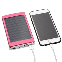 Portable 8000mAh Solar External Battery Charger Power Bank Charging For iPhone For iPad Tablets Smart Phones With Data Cable