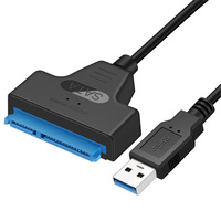 Nouveau câble USB 3.0 SATA 3 adaptateur Sata vers USB jusqu'à 6 Gbps prise en charge 2.5 pouces disque dur SSD externe 22 broches Sata III câble