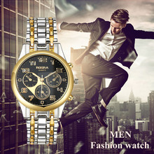 Men business watch 2019 new quartz male  full steel watches hot sale good quality stainless steel fashion round dial relojes
