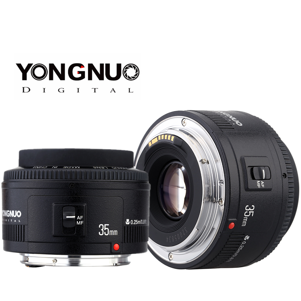 Yongnuo 35mm lens YN35mm F2 0 lens Wide angle Fixed Prime Auto Focus Lens For Canon