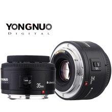Объектив 35 мм Yongnuo F2.0, фотолинза широкоугольная, ручной и фиксированный автофокус, для Canon 600d, 60d, 5DII, 5D, 500D, 400D, 650D, 600D, 450D