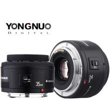 Yongnuo 35mm 렌즈 yn35mm f2.0 렌즈 와이드 앵글 고정/프라임 자동 초점 렌즈 캐논 600d 60d 5dii 5d 500d 400d 650d 600d 450d