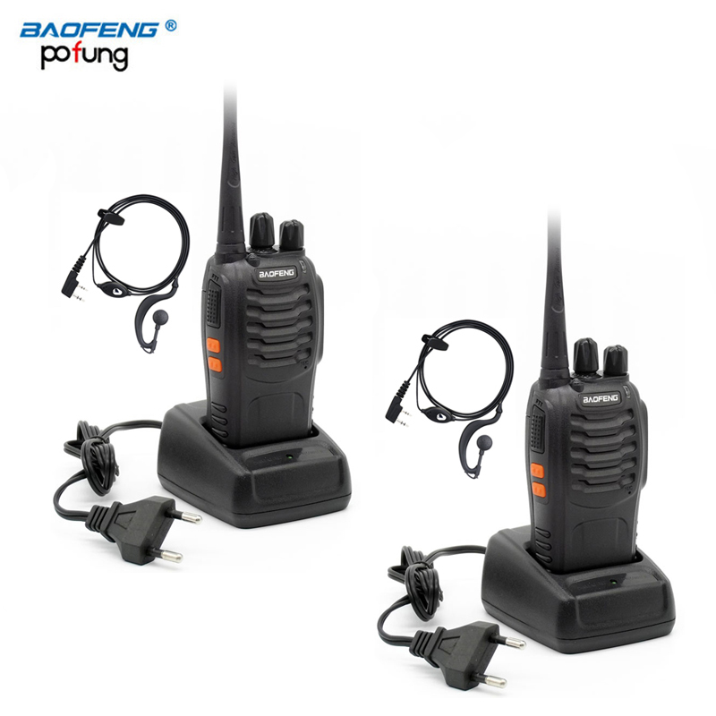 2 PCS Baofeng BF-888S BF 888S BF888S Walkie Talkie Two Way Ham CB UHF Radio Station Transceiver Boafeng Scanner Portable Handy