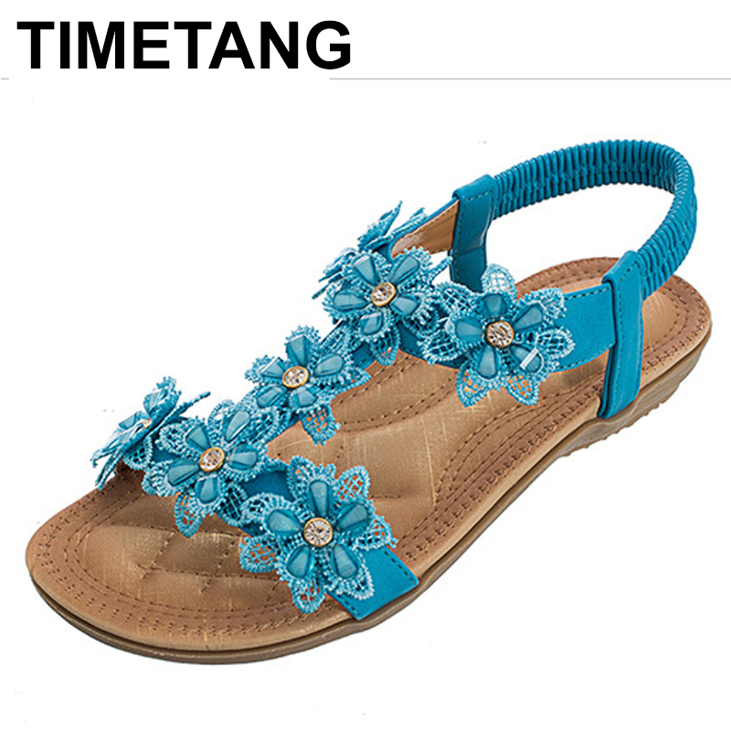 TIMETANG 2018 women sandals summer style crystal white color elastic band flip flop beaches sandals women flats size 36-41 elonbo y1h8 women s elastic sleeveless american flag style digital painting jumpsuit white red