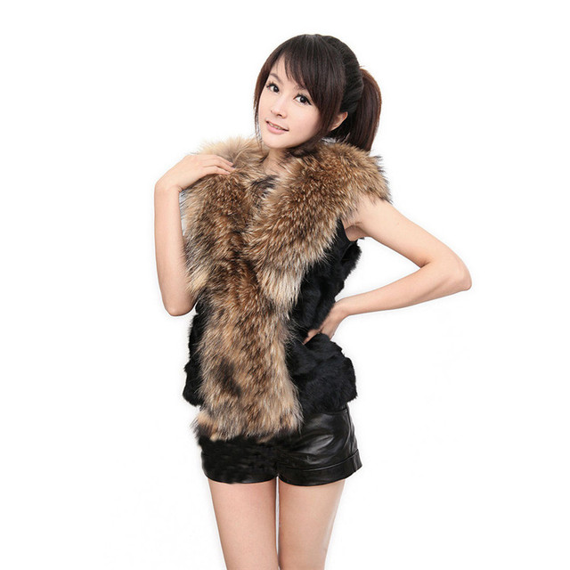 Winter Faux Fur Thick Vest Women Sleeveles Vest Coat Ladies Outerwear Long Hair Warm Female Waistcoat Femme Fashion Vest N221