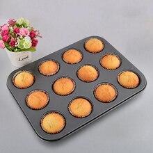 high quality 12 capacity non stick teflon metal round cupcake baking pans baking pans
