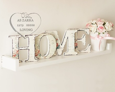Home Lettter Wooden Furnishings Letter Decor Bar Window