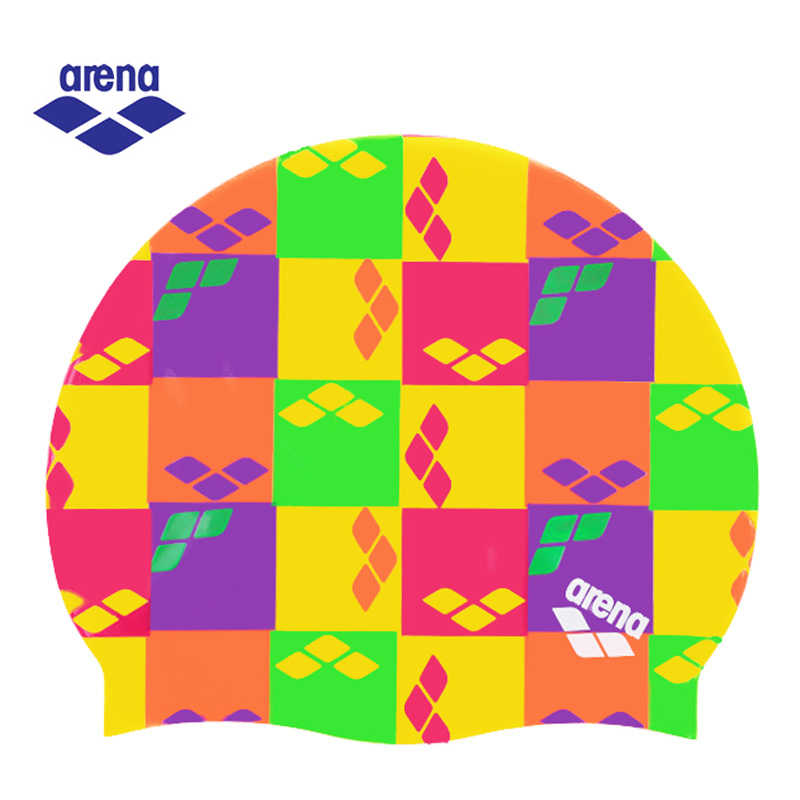 Arena Waterproof Swimming Cap for Women Printed Silicone Swimming Cap ASS7601