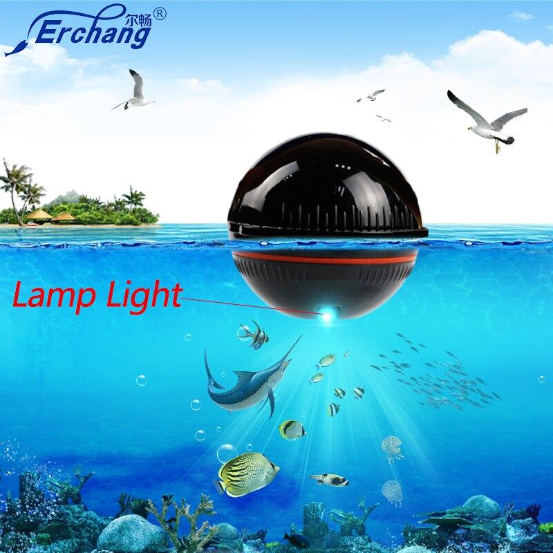 Erchang Fish Finder Portable Wireless Sonar Sensor Transducer Detector Fish Finder Bluetooth Echo Sounder Fish Finders Fishing
