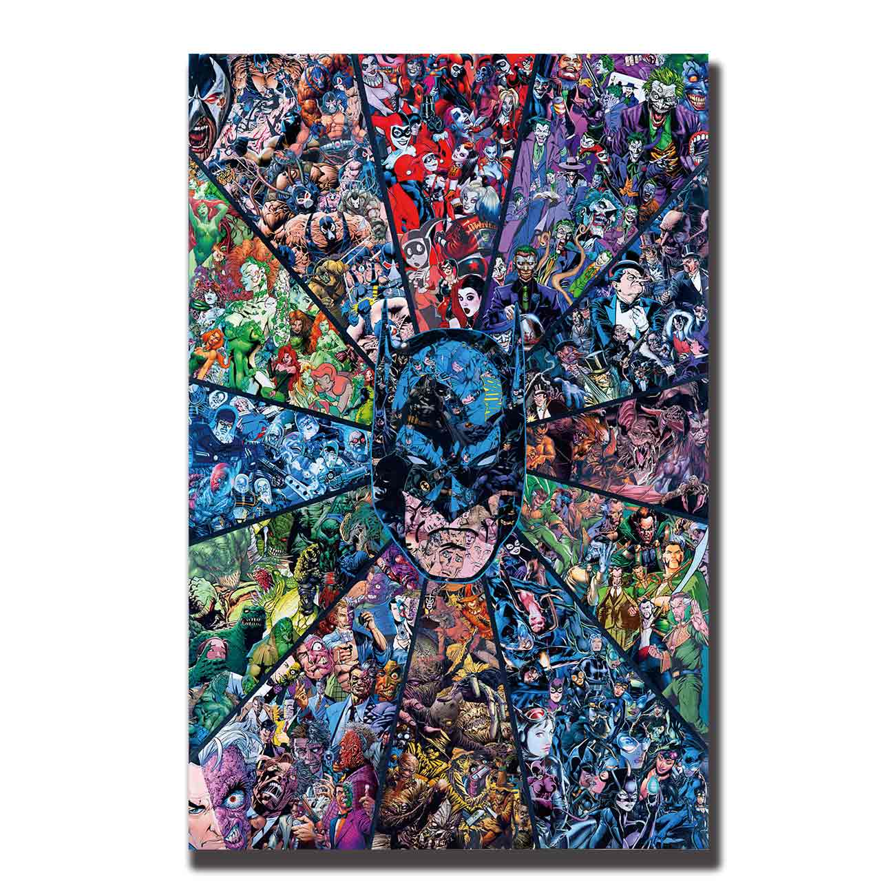 Art Posters Wall Canvas Print Modern painting Batman Hot / Superhero Comic Collage Movie Home Decor 14x21 12x18 24x36 27x40 image