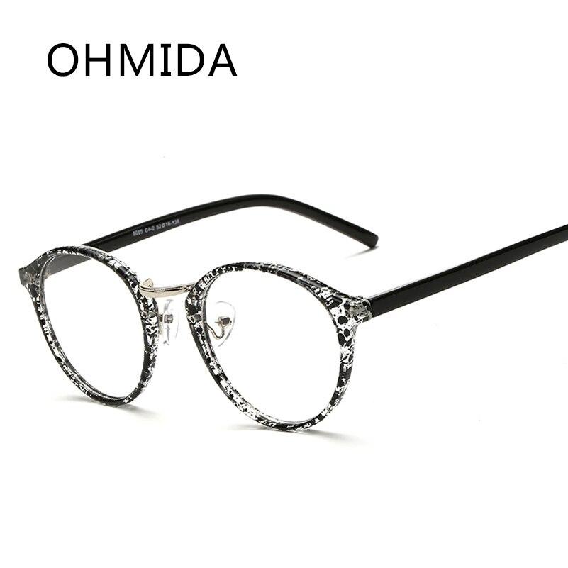 OHMIDA Mode Sécurité Hommes Lunettes Cadres Femmes Optique Lunettes Vintage  Frame Plaine Clair Lentilles Miroir lunette de vue femme c484a0fe9c99