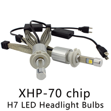 Ocsion P70 55 Вт H7 LED Фары для авто 6600lm 5000 К 6000 К автомобильной Фары XHP-70 чип безвентиляторное охлаждение ремень налобный фонарь H4 H11