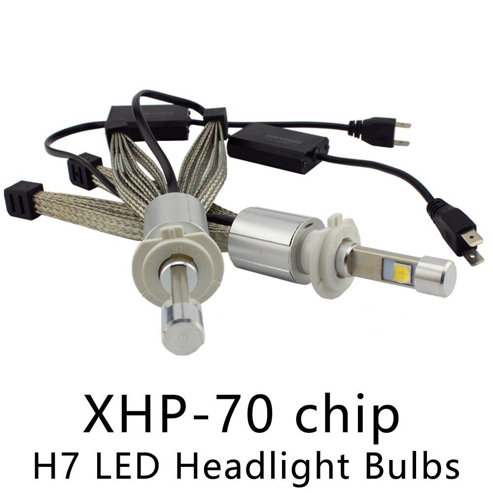 OCSION P70 55w H7 <font><b>LED</b></font> Headlight Bulbs <font><b>6600lm</b></font> 5000k 6000k Automotive Headlights XHP-70 chip Fanless Cooling Belt Headlamp <font><b>H4</b></font> H11