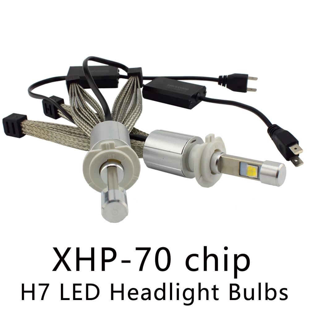 Ocsion P70 55 Вт H7 <font><b>LED</b></font> Фары для авто <font><b>6600lm</b></font> 5000 К 6000 К автомобильной Фары для автомобиля xhp-70 чип безвентиляторное охлаждение ремень налобный фонарь <font><b>h4</b></font> H11