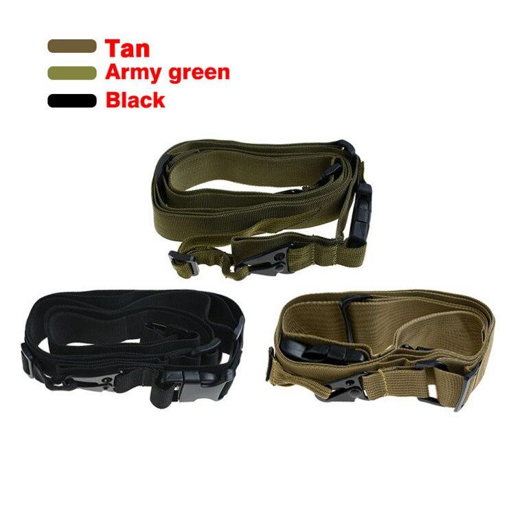 Militar 3 puntos del combate táctico elástico arma eslingas al aire libre  harpoon línea supervivencia giratorio Sling STRAP airsoft Caza cinturón b6dad23d766