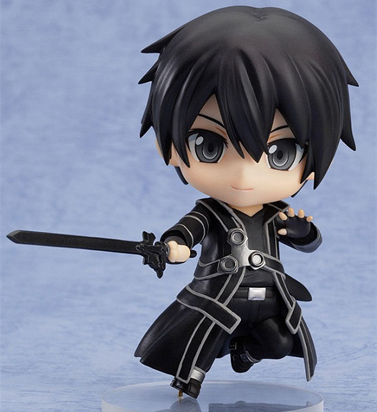 Free shipping Nendoroid Sword Art Online SAO Figma 295 Kirito Kazuto Anime Cute Figure 4'' In Box Best Gift Kids Toys brinquedos