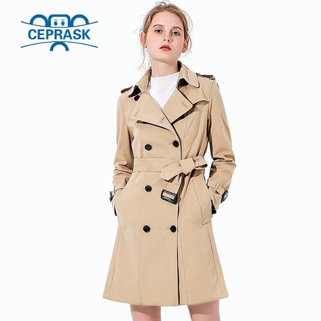 2018 vente Chaude Printemps Automne Marque Casual Tranchée manteau pour les femmes  Plus La Taille Long d40bac0221d