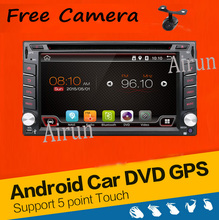 Universal 2 din Android 4.4 Coches reproductor de DVD GPS + Wifi + Bluetooth + Radio + 1 GB CPU + DDR3 + Pantalla Táctil Capacitiva + 3G + pc del coche + aduio