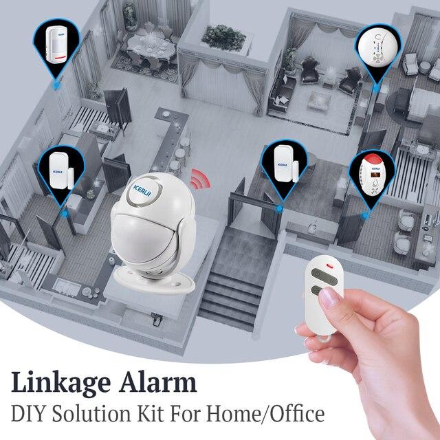 KERUI WIFI Home Security Alarm System Works with Alexa Smart App 120dB PIR Main Panel Door/window Sensor Wireless Burglar Alarm 5