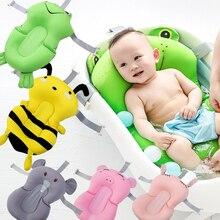 Детский коврик для ванной нескользящий коврик для ванной для новорожденных, безопасный мягкий коврик для ванной, поддержка тела, переносная воздушная подушка