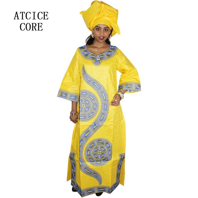 LA009   ABITI AFRICANI PER LE DONNE di modo africano di design bazin riche  abiti del ricamo abito lungo con la sciarpa in LA009   ABITI AFRICANI PER  LE ... 67d01dc1acc5